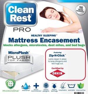 Clean Rest Pro Waterproof, Allergy and Bed Bug Blocking Mattress Encasement, California King