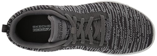 Baskets Walk Femme Go charcoal black Gris rapture Joy Skechers w56aIqI