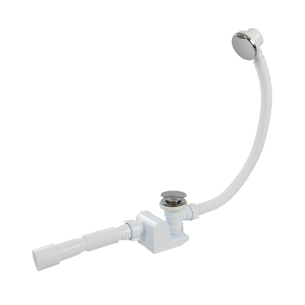40 mm White Plumbob 841585 Telescopic P-Trap with Washing Machine Outlet