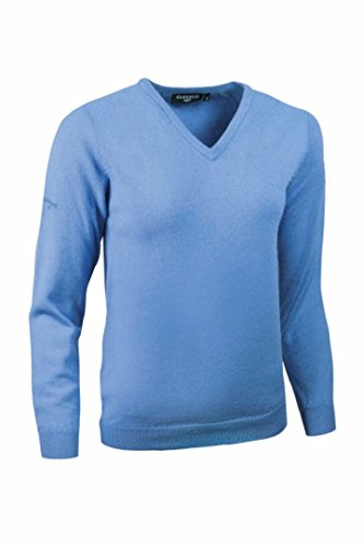 Sweater Blue Lambswool (Glenmuir Womens V Neck Lambswool Sweater Blue M)