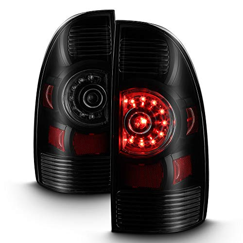 ACANII - For 2005-2015 Toyota Tacoma Pickup Black Housing Smoked Lens LED Tail Lights Brake Lamps Assembly Left+Right (Toyota Tacoma 2008 Tail Light)