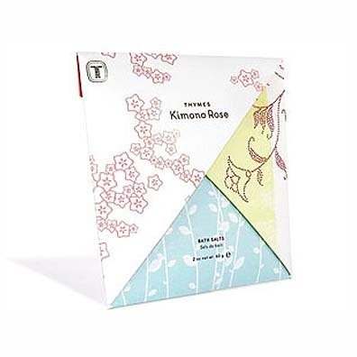 (The Thymes Kimono Rose Bath Salts - 2 oz.)