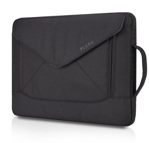 PLEMO Envelope Nylon Fabric 15-15.6 Inch Laptop / Notebook Computer / MacBook / MacBook Pro Shoulder Bag Case Pouch Sleeve, Black