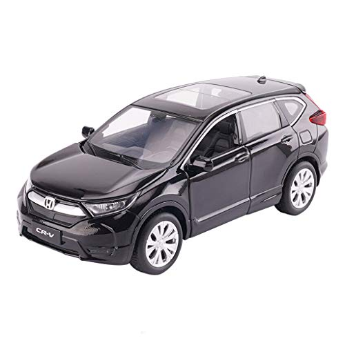 (JIANPING Car Model Car 1:32 CRV Off-Road Vehicle Simulation Alloy Die-Casting Toy Ornaments Sports Car Collection Jewelry 14.5x6x5.5CM Model car (Color : Black) )
