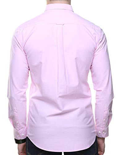 Piero Lusso Men's Long Sleeve Regular Fit Casual Sold Colour Dress Shirt 5