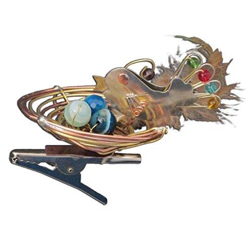 Bird's Nest Bronze Nickel and Copper Clip-On Ornament Han...