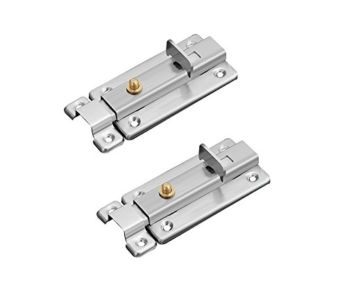 NELXULAS Stainless Steel Spring Slide Bolt Latch (3-2/3