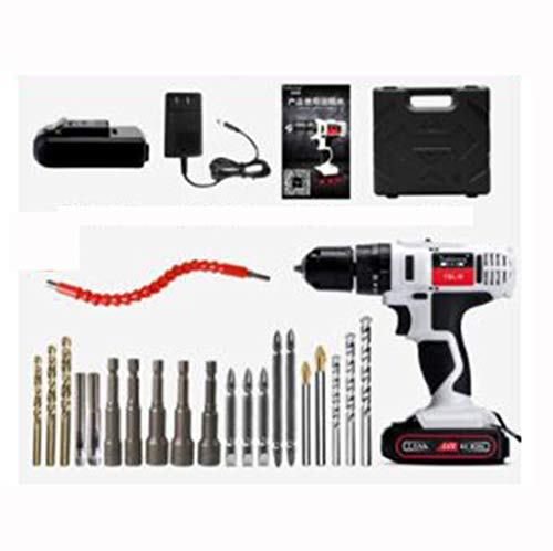 24V Electric Screwdriver Tool Home Multi-function Electric Turn Impact Lithium Electric Pistol Drill (Color : B)