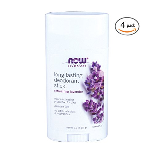 Now Foods Long Lasting Deodorant Stick - 2.2 oz 4 Pack ()