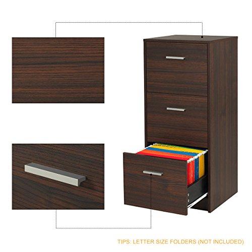 DEVAISE 3-Drawer Wood Filing Cabinet, Letter Size/A4, Dark Oak by DEVAISE (Image #2)