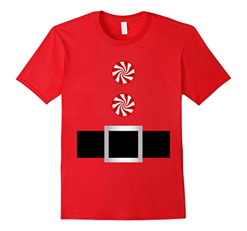 Red Jacket Costume Ideas (Mens Candy Cane Santa Elf Belt Costume Outfit Jacket Shirt Small Red)