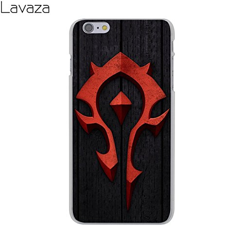 C.N. Black Red World of Warcraft Theme iPhone 5 Case Wow for The Horde 5S Cover 5 SE Horde Vs Alliance Battle for Azeroth MMO PVP Computer Game Orcs Troll Tauren Worgen Deathknight, Hard Plastic