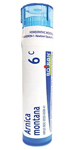 Montana Arnica 6c - Boiron Homeopathic Medicine Arnica Montana, 6C Pellets, 80-Count Tubes (Pack of 5)