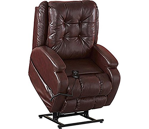 Catnapper Jenson 4855 Power Full Lay Out Lift Chair Infinite Dual Motor Recliner with Comfor-Gel 400 lb Capacity - Burgundy with In-Home Delivery and Setup (Chair Multi Burgundy Task)