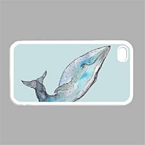 (209wi4) Blue Zigzags with Red Whale Cute Apple iPhone 4 / 4S White Case by icecream design