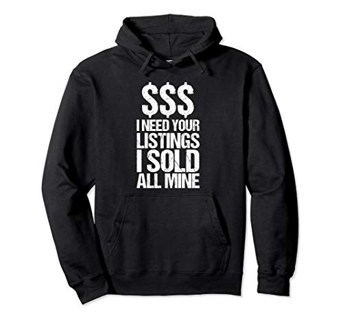 Realtor Hoodie | Sold Sign Real Estate Agent Agency Gift