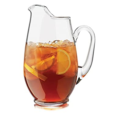 Libbey Crisa 1780764 Capacity Mario Glass Pitcher, 89.3-Ounce