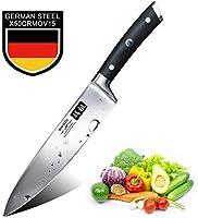 SHAN ZU Kochmesser Küchenmesser Profi Messer Chefmesser 20cm Allzweckmesser Deutscher Edelstahl Extra Scharfe...