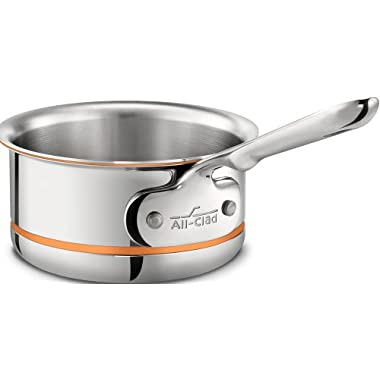 All-Clad 6200.5 SS Copper Core 5-Ply Bonded Dishwasher Safe Butter Warmer / Cookware, 0.5-Quart, Silver