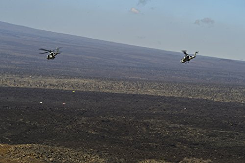 Home Comforts A U.S. Marine Corps UH-1Y Venom and a AH-1W Su