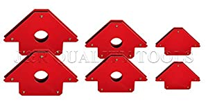 6 Pc Welding Magnet Arrow Type *new* 25lb, 50lb, 75lb from J&R Quality Tools