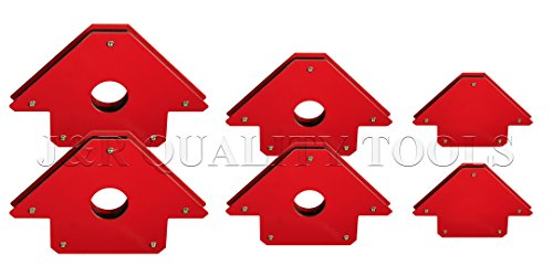 6 PC WELDING MAGNET ARROW TYPE *NEW* 25LB, 50LB, 75LB