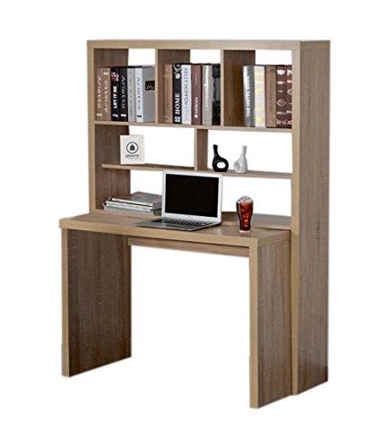 PHOENIX 808401ES Schreibtisch Regal Kombination Holz 30 X 113.5 X 157.1 Cm,  Eiche/sägerau: Amazon.de: Küche U0026 Haushalt