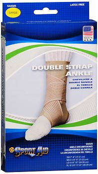 Sport Aid Double Strap Ankle Support LG - 1 ea., Pack of 5 by SportAid