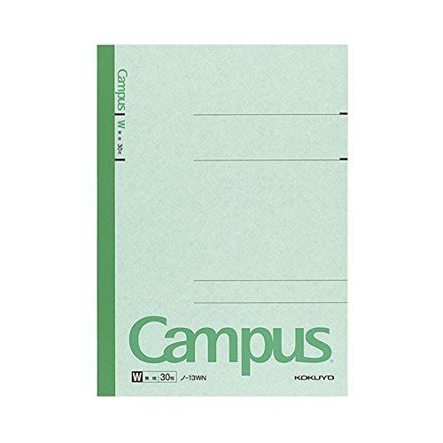 生活日用品 (まとめ買い) キャンパスノート(特殊罫) セミB5 無地 30枚 ノ-13WN 1セット(10冊) 【×5セット】 B074JTGHW7