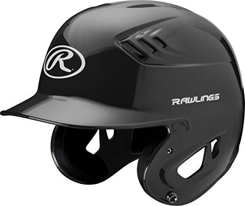 Rawlings Clear Coat Alpha Sized Batting Helmet, Black, Small ()