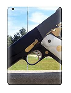 Durable Defender Case For Ipad Air Tpu Cover(colt 45 Military Gun Man Made Military)