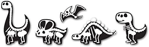 SELECT SIZE Cute Dinosaurs X-Ray Design Set of 5 Car Vinyl Stickers