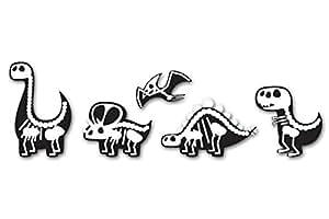 Cute Dinosaurs X-Ray Design Set of 5 Vinyl Stickers - Car Phone Helmet - SELECT SIZE
