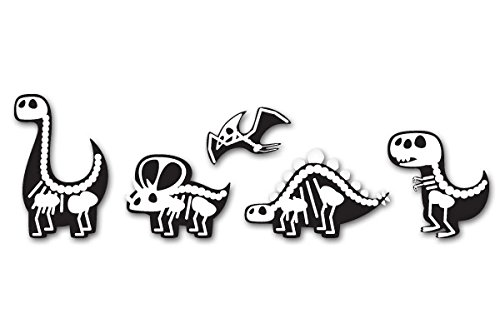 Cute Dinosaurs X-Ray Design Set of 5 Vinyl Stickers - Car Window Bumper Laptop - SELECT SIZE ()