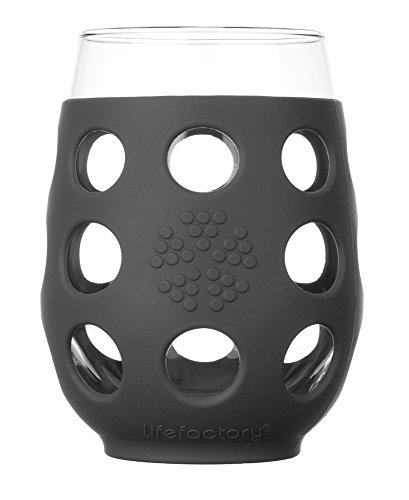 Lifefactory BPA-Free Indoor and Outdoor Wine Glass with Protective Silicone ()