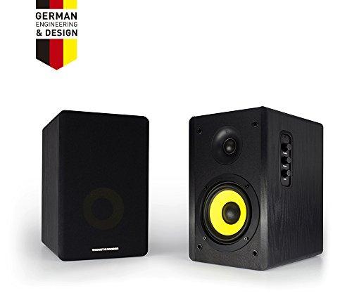 Thonet and Vander Kurbis BT Bluetooth Bookshelf Speakers, Compatible WITH ALEXA, Integrated Amplifier delivers 340 Watts Peak Power with enhanced Bass, Stream your favorite playlist