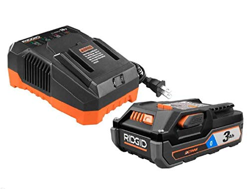 Ridgid AC807 18-Volt OCTANE 3.0 Ah Lithium-Ion Battery and Charger Kit (Ridgid Battery Charger)