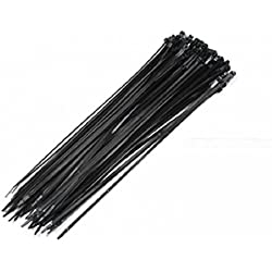 """15"""" Made In Usa Industrial Black Wire Cable Zip Uv Nylon Tie Wraps 100 Pack"""