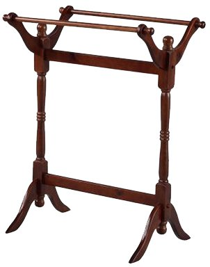 Powell Heirloom Cherry Blanket Rack