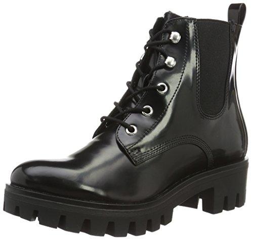 BLACK 25288 Tamaris Militar Botas Negro Mujer 001 para FgAYqZP