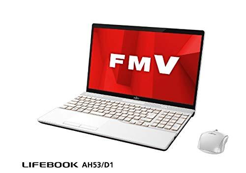 富士通 15.6型ワイド フルHD ノートパソコン AH53/D1 FMV LIFEBOOK AHシリーズ BDXLドライブ搭載 FMVA53D1W プレミアムホワイト 2019年2月モデル   B07NZNMWT3
