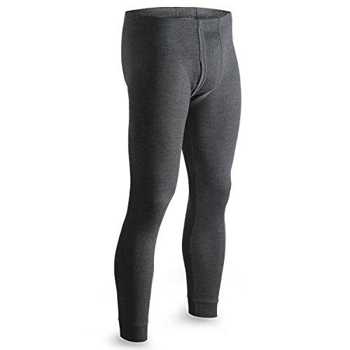 Thermo Unterhose Lange Winterhose Skihose Warme Unterwäsche Baumwolle Herren Größe XL Farbe Grau