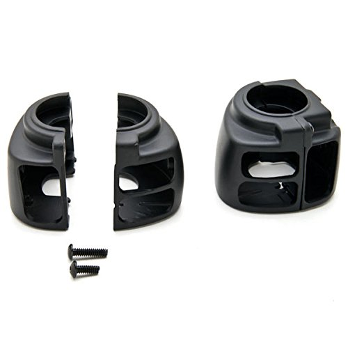 Krator Black Handlebar Switch Housings Control Cover Kit For 2000-2005 Harley Davidson Softail by Krator