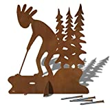 Cold Nose Creations Large 36in High Kokopelli Golf Putter Trees Sturdy Metal Yard Art, Garden Statue, or Lawn Ornament