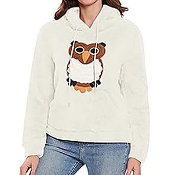 St.Dona Pullover Hoodie Sweatshirt for Women, Long Sleeve Color Block Pullover Leopard Sweatshirt Blouse Tops