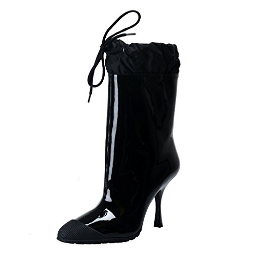 Miu Miu Patent Leather - Miu Miu Patent Leather High Heel Ankle Boots Shoes US 6 IT 36; Black