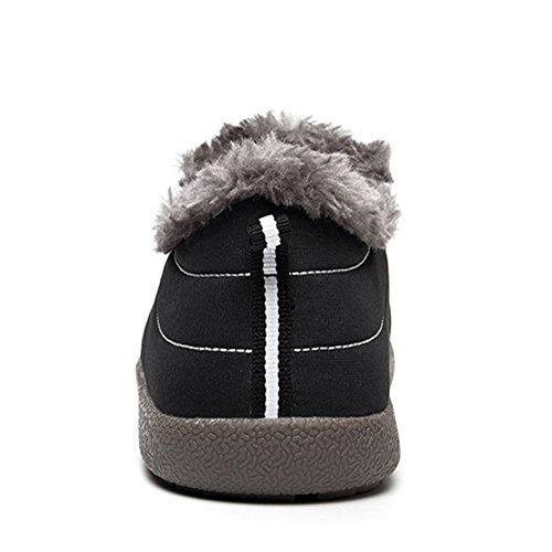 CIOR Men and Women Snow Boots Fur Lined Winter Outdoor Slip on Shoes Ankle Boots Black/Low Top j8JRHrRk