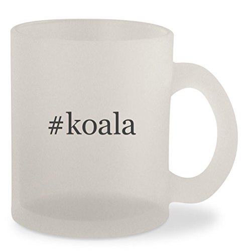 #koala - Hashtag Frosted 10oz Glass Coffee Cup - Koala Baby Stations Bear Changing
