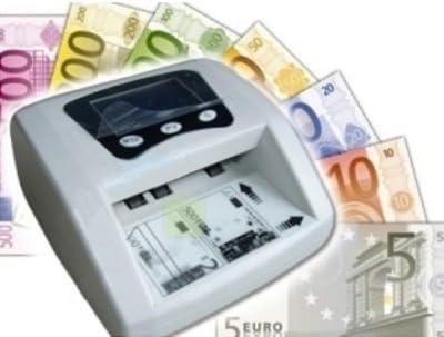 RILEVATORE BANCONOTE CONTA SOLDI VERIFICA RILEVA EURO FALSI CONTABANCONOTE