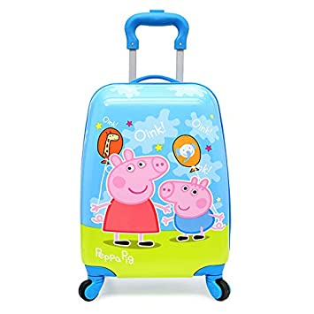 c03c4db8fe27 KIDOZ KINGDOM Polycarbonate 18 Inch Multicolour Peppa Pig Trolley Bag